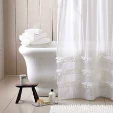 extra wide ruffle curtain for shower