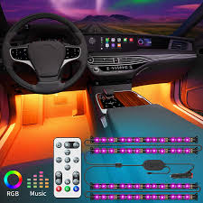 Amazon Car Lights Govee Interior Car Lights With Remote And Control Box Upgraded 2 In 1 Design Interior Car Led Lights With 32 Colors 48 Leds Lighting Kit Sync To