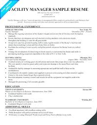 Facility Manager Resume Sample Best of Maintenance Director Resume Facility Maintenance Resume Executive