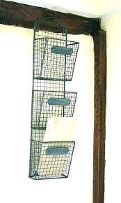 hanging mail holder wood