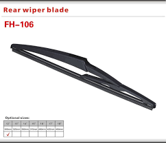 China Jecars Rain X Rear Wiper Blade Size Suppliers And
