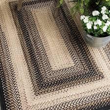 black mist outdoor braided rugs