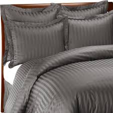wamsutta 500 damask charcoal duvet cover set 100 cotton 500 thread count