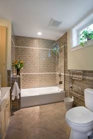 Part Tiled Bathrooms 17 Best Ideas About Brown Tile Bathrooms On Pinterest Lighting