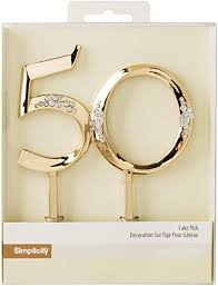 Amazoncom Simplicity Gold Plated 50th Wedding Anniversary Cake