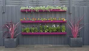 pink purple fuschia diy fence planter gutter