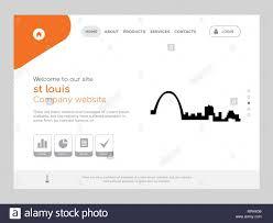 St Louis Web Design Quality One Page St Louis Website Template Vector Eps