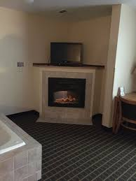 quality inn suites electric fireplace would light but not work for heat