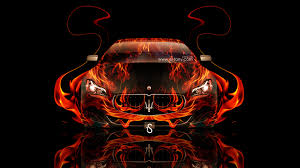 maserati quattroporte fire abstract car