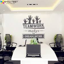 wall decorations for office. Office Wall Decal \u2013 \u201cTeamwork Makes The Dream Work\u201d Decorations For Q