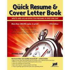 Quick Resume And Cover Letter Book By Michael Farr Walmart Com