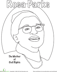 Small Picture Rosa Parks Coloring Worksheets Black history month and Coloring
