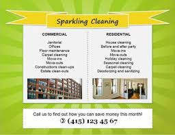 Commercial Cleaning Flyers 14 Free Cleaning Flyer Templates House Or Business Hloom