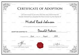 Pet Adoption Certificate Template Adoption Certificates Magdalene Project Org