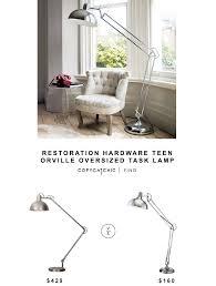 restoration hardware teen orville oversized task lamp for 429 vs adesso atlas floor lamp for 160
