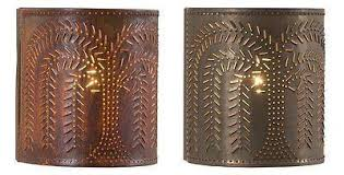 punched tin lighting. punched tin sconce light handcrafted willow tree pattern wall lamp in blackened or rustic tin finish punched lighting h