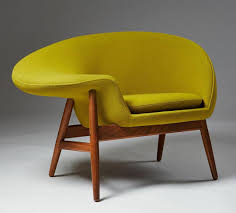 hans olsen s fried egg chair designed to be sat in both normally and