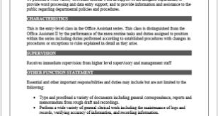 Microsoft Job Description Job Description Template Microsoft Word Templates