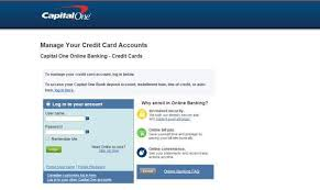 Capital One Credit Card Login To Access Online Account Technology