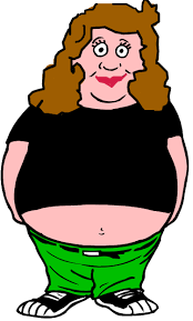 Image result for really fat woman clipart