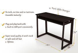folding computer desk w usb port espresso 40 stony edgestony edge