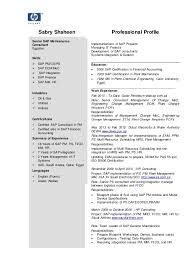 Sap Consultant Resume Best Sample Senior Sap Consultant C V Resume