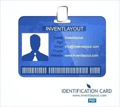 Id Card Templates Free Id Card Template California Photoshop Free
