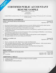 Certified Public Accountant Resume Sample Resume Samples Across