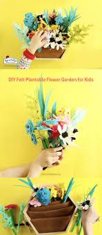 diy felt plantable flower garden for kids thepapermama com