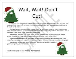 Christmas Tree Writing Prompt Persuasive Essay