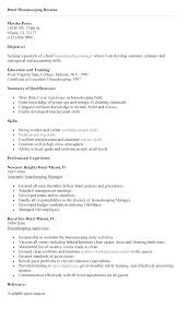 Awesome Collection Of Hospital Housekeeping Resume Fancy