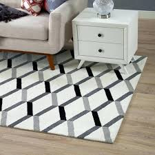 black and white striped rug 5x8 white rug geometric chevron area rug in black and white