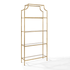 Aimee Gold Glass Etagere