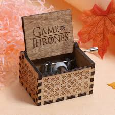 Engraved Wooden Music Box Game Of Thrones GAME OF THRONES Music Box Engraved Wooden Music Box Crafts Kid 52