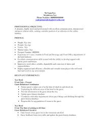 16 Hostess Resume Skills Job And Resume Template