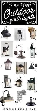 Fixer Upper Wall Lights Outdoor Wall Lights Fixer Upper Style Exterior Light