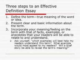 thesis paper definition of terms