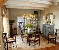 White Washed Wood Ceiling Farmhouse Buffets And Sideboards Dining Room Shabby Chic Style