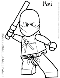 Coloring Pages Ninja Free Printable Turtles Lego Ninjago Movie Kai