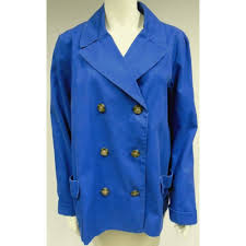 oxfam manchester this smart pea coat royal blue in colour is the perfect addition to your wardrobe this winter complete with a trendy collar and two