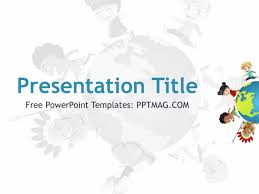 Kids Powerpoint Background Free Culture Powerpoint Template Pptmag