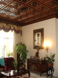 210 antique copper ceiling tiles installed in boca
