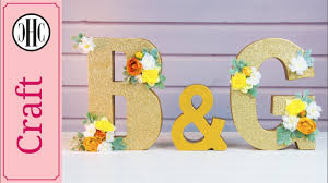 glitter wedding letters diy wedding décor country hill cottage