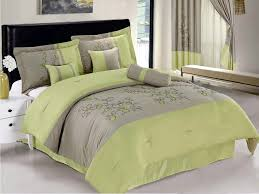 awesome casual bedroom decor lime green and gray bedding yesrail apple green bedding sets prepare