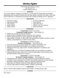 Summary On Resume Examples Truck Driver Resume Sample Resume Summary ...
