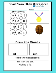 However, the qu digraph (letter combination) is addressed in. Phonics Worksheet Short Vowel It In Worksheet Learn To Read Program