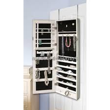 hanging mirror jewelry organizer mirrored jewelry armoire cabinet organizer storage wall mount hang door case hanging