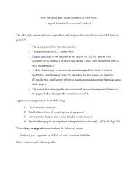 What Is Apa Style Writing How To Format And Cite An Appendix In Apa Style
