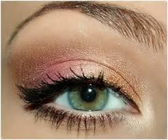 gold rose brown eye makeup