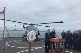 defence secretary gavin williamson speaking on hms montrose